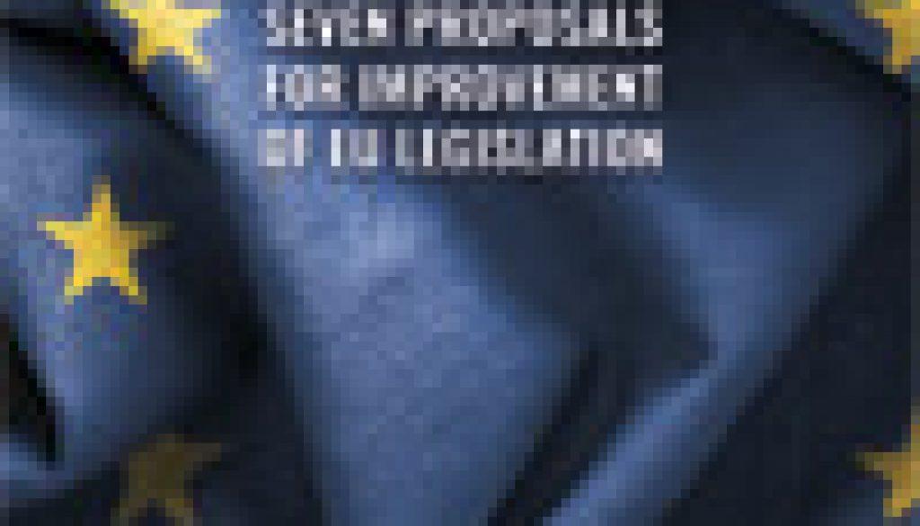 Seven-proposals-for-improvement-of-EU-legislation-omslag